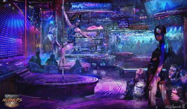 Ночной клуб cyberpunk член стриптиз клуб